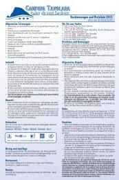 Preisliste PDF - Camping Tavolara