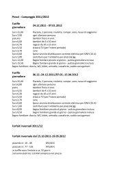 Prezzi - Campeggio 2011/2012 Tariffe giornaliere 24.12.2011 ...