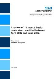 A review of 14 mental health homicides ... - Hundred Families