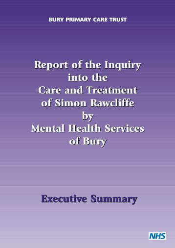 Report of the Inquiry into the Care and ... - Hundred Families