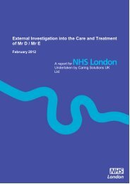 External Investigation into the Care and ... - Hundred Families
