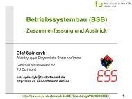 Betriebssystembau: 14-Zusammenfassung und ... - TU Dortmund