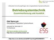 Betriebssystemtechnik: 16 - Zusammenfassung und ... - TU Dortmund