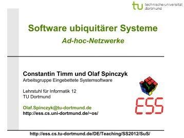 Ad-Hoc-Netzwerke - TU Dortmund