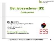 BS: 11 - Dateisysteme - TU Dortmund
