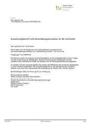 Evaluation der Lehrveranstaltung im Wintersemester 2008/2009
