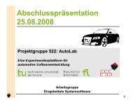 Abschlusspräsentation 25.08.2008 - TU Dortmund