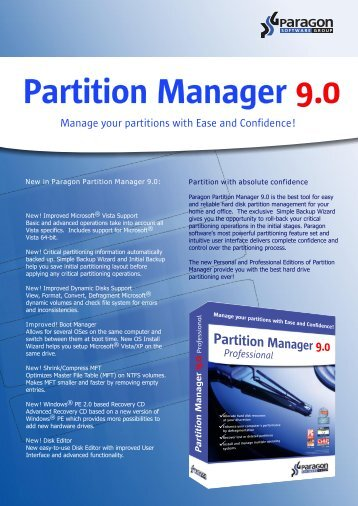 Partition Manager 9.0 - Download