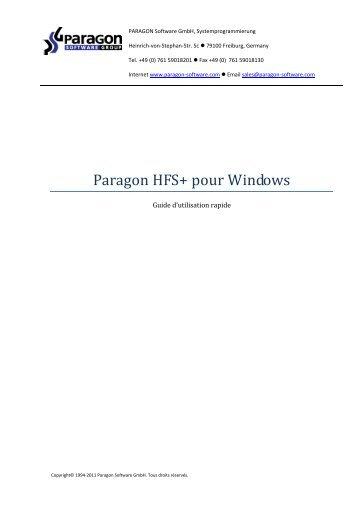 Paragon HFS+ pour Windows - Download