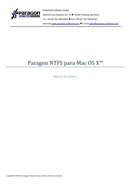 Paragon NTFS para Mac OS X™ - Download - PARAGON Software