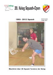 1993- 2012 Squash - Kelag