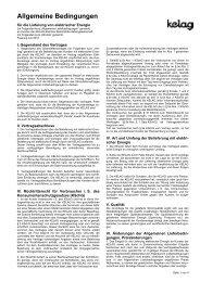 Allgemeine Lieferbedingungen - Kelag