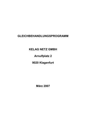 GLEICHBEHANDLUNGSPROGRAMM KELAG NETZ GMBH ...