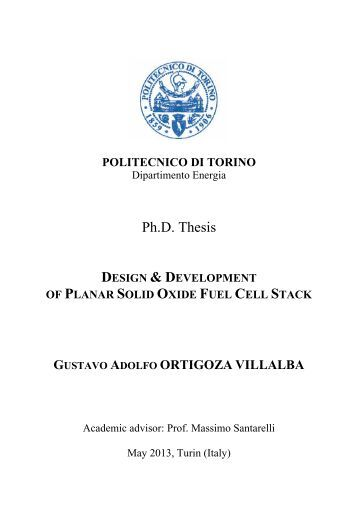 Ph.D. Thesis - PORTO - Publications Open Repository TOrino ...