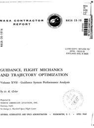 GUIDANCE, FLIGHT MECHANICS AND TRAJECTORY ...