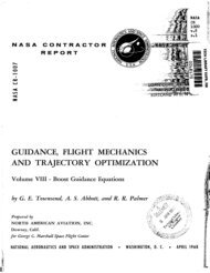 guidance, flight mechanics and trajectory optimization