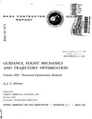 guidance, flight mechanics ! and trajectory optimization