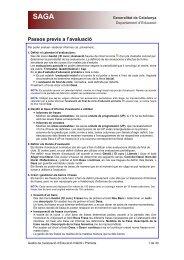 Procés detallat de l'Avaluació - Xtec