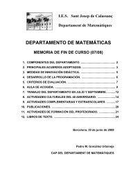 DEPARTAMENTO DE MATEMÁTICAS - Xtec