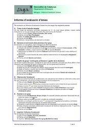 M29 - Informe d'avaluació d'àrees. - Xtec