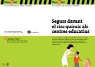Segurs davant el risc químic als centres educatius - Generalitat de ...