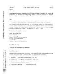 SÈRIE 1 PAAU. LOGSE. Curs 1999-2000 LLATÍ - Xtec