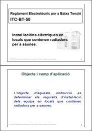 ITC-BT-50 Instal·lacións elèctriques en locals que contenen ... - Xtec