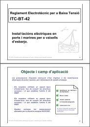ITC-BT-42 Instal·lacións elèctriques en ports i marines per a ... - Xtec