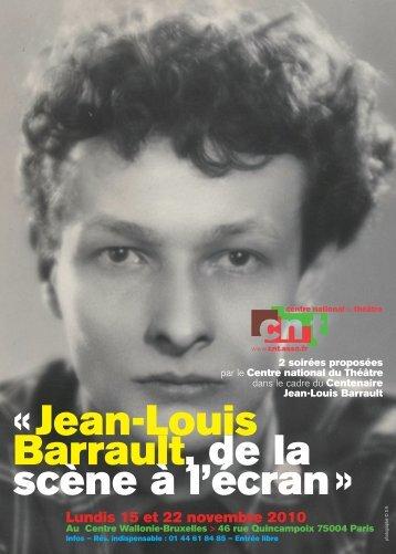 «Jean-Louis Barrault, de la scène à l'écran »