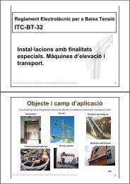 ITC-BT-32 Objecte i camp d'aplicació - Xtec