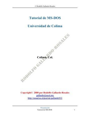 Tutorial de MS-DOS - Xtec