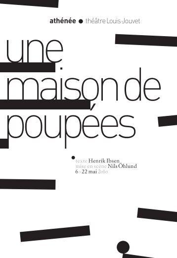 texte Henrik Ibsen mise en scène Nils hlund 6 › 22 mai 2o1o