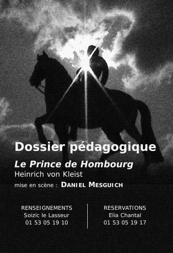 le dossier pédagogique du Prince de Hombourg