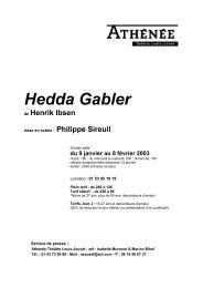 Dossier de presse Hedda Gabler