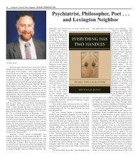 Lexington Author Ron Pies - Colonial Times Magazine