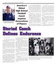 America's Oldest High School Coach-Coach Tighe Inspires