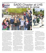 SADD Chapter at LHS continues to grow - Colonial Times Magazine