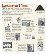 Lexington Firsts - Colonial Times Magazine