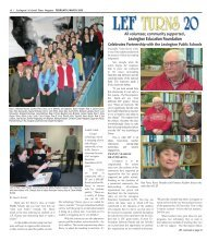 LEF Turns 20! - Colonial Times Magazine