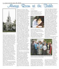 Pilgrim Church-Always Room at the Table - Colonial Times Magazine
