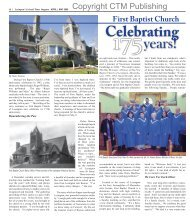 First Baptist Celebrates 175 Years! - Colonial Times Magazine