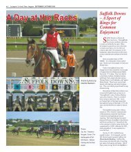 Visit Suffolk Downs - Colonial Times Magazine