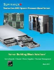 Serverboards • Chassis • Power Supplies • Thermal Management