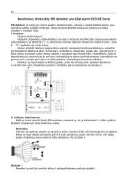 Bezdrátový širokoúhlý PIR detektor pro GSM alarm EVOLVE Sonix