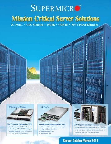 Server Catalog March 2011