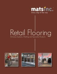 Retail Commercial Flooring Brochure | Mats Inc.