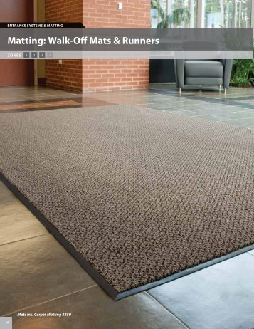Matting: Walk-Off Mats & Runners - Mats Inc.