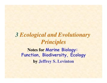 3 Ecological and Evolutionary Principles