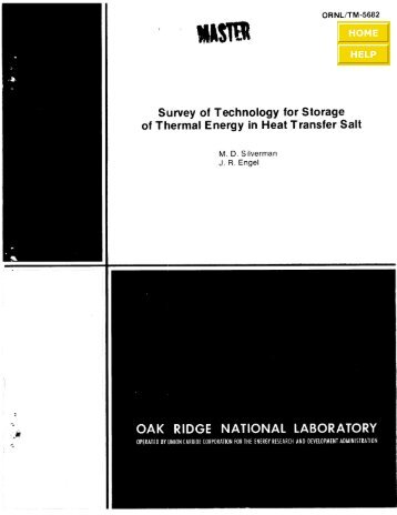 Survey of Technology for Storage of Thermal Energy in Heat ...