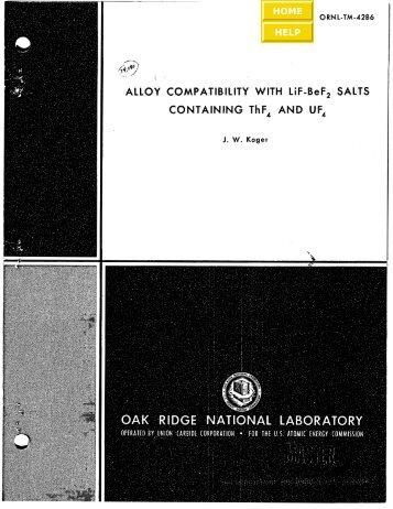 ORNL-TM-4286 - the Molten Salt Energy Technologies Web Site